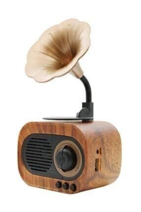 The Mobile B5 Nostaljik Mini Gramofon Retro Bluetooth Radyo Hoparlör /usb/sd/aux/mikrofon