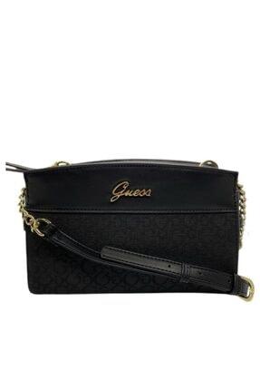 Guess Kadın Siyah Elenı Camera Bag Çanta
