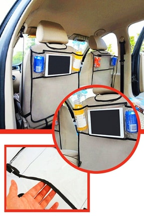 xolo Araba Koltuk Arkası Şeffaf Koruyucu Kılıf Tablet Tutucu Organizer 2 Li Set