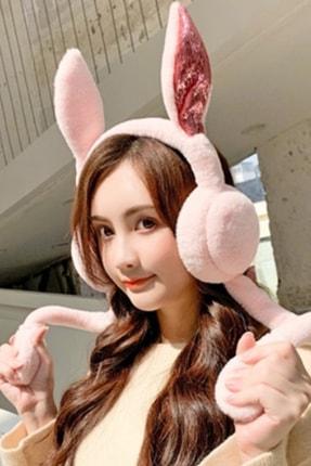 YOYOSO Kulakları Hareket Eden Tavşan Kulaklık Pembe