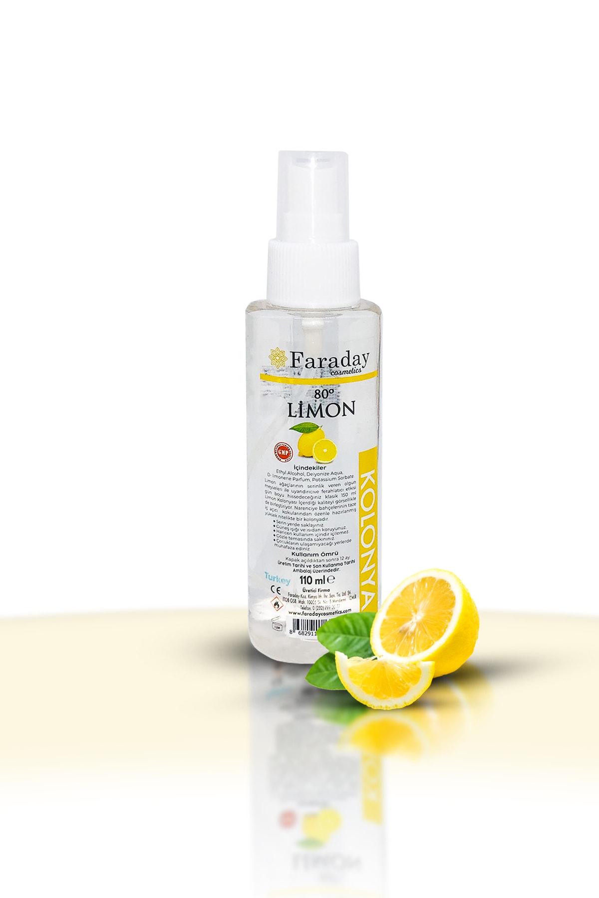 Faraday Cosmetics Yüksek Nitelikli Limon Kolonyası - 80 Derece - 110 Ml 1