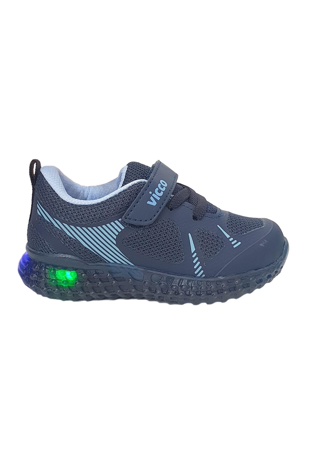 İLHAN PAŞAOĞLU Erkek Çocuk Lacivert Işıklı Spor Ayakkabı 1