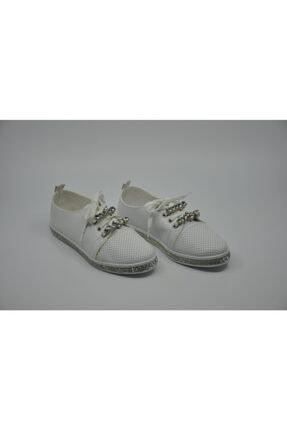 Markopark Kadın Beyaz Taşlı Ayakkabı