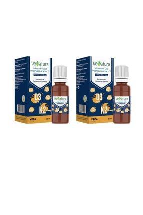 VeNatura Vitamin D3 K2 Menaquinon 7 Damla 20ml 2'li Avantaj Paket