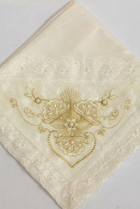 Çeyiz Diyarı Fransız Dantel Taş Süslemeli Monalisa Çeyiz Bohçası Gold