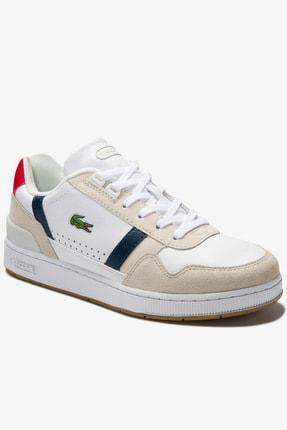 Lacoste T-Clip 0120 2 Sfa Kadın Beyaz - Lacivert - Kırmızı Sneaker 740SFA0043