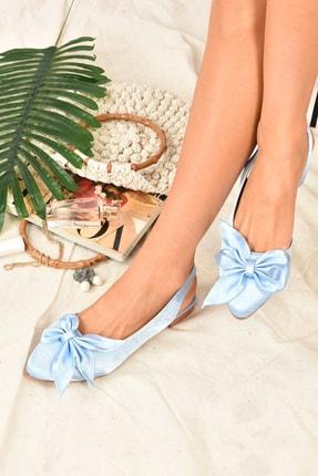 Fox Shoes Kadın Mavi Kumaş Babet H726809004