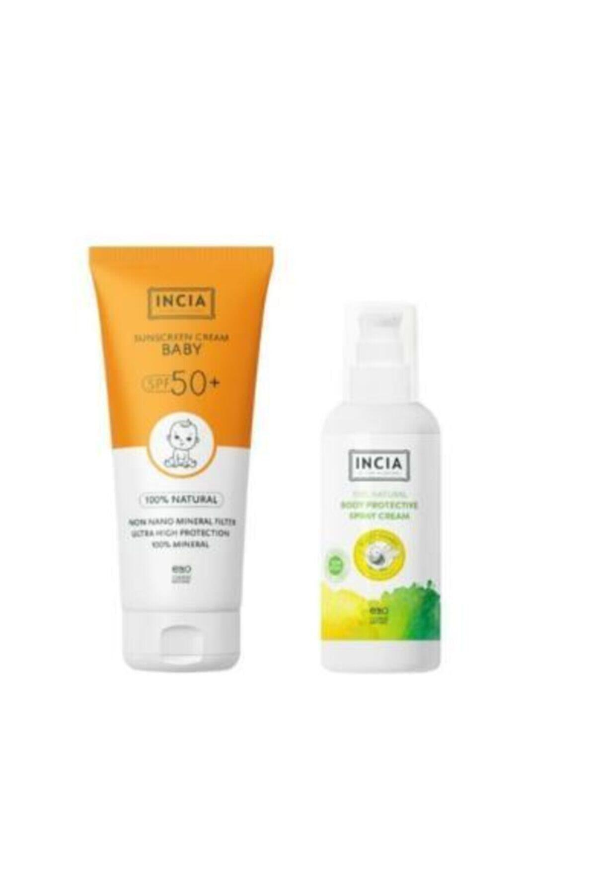 Incia Güneş Seti Çocuk Spf 50 Sun Cream + 100 ml Vücut Spreyi 1