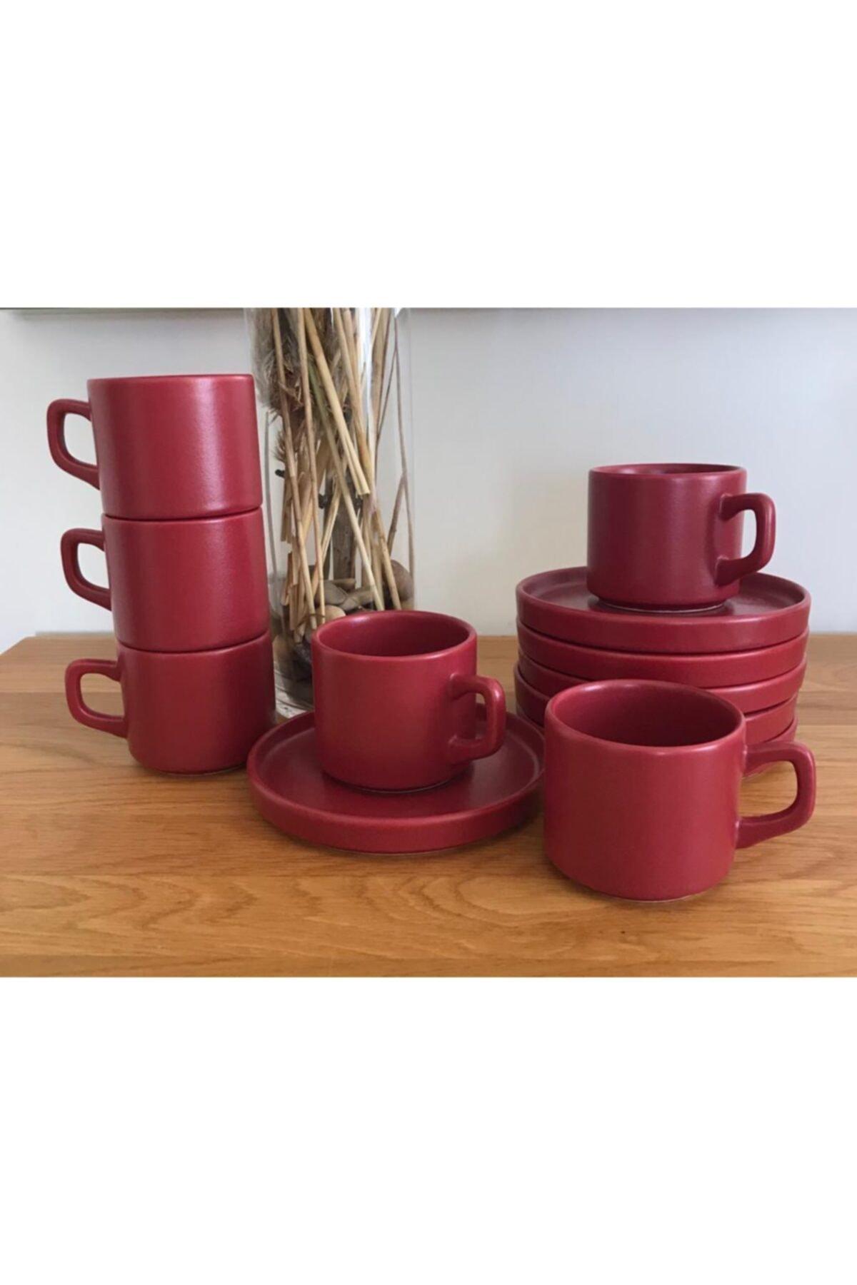 Keramika 6 Kişilik Stackable Carmen Fincan Takımı 12 Parça 1