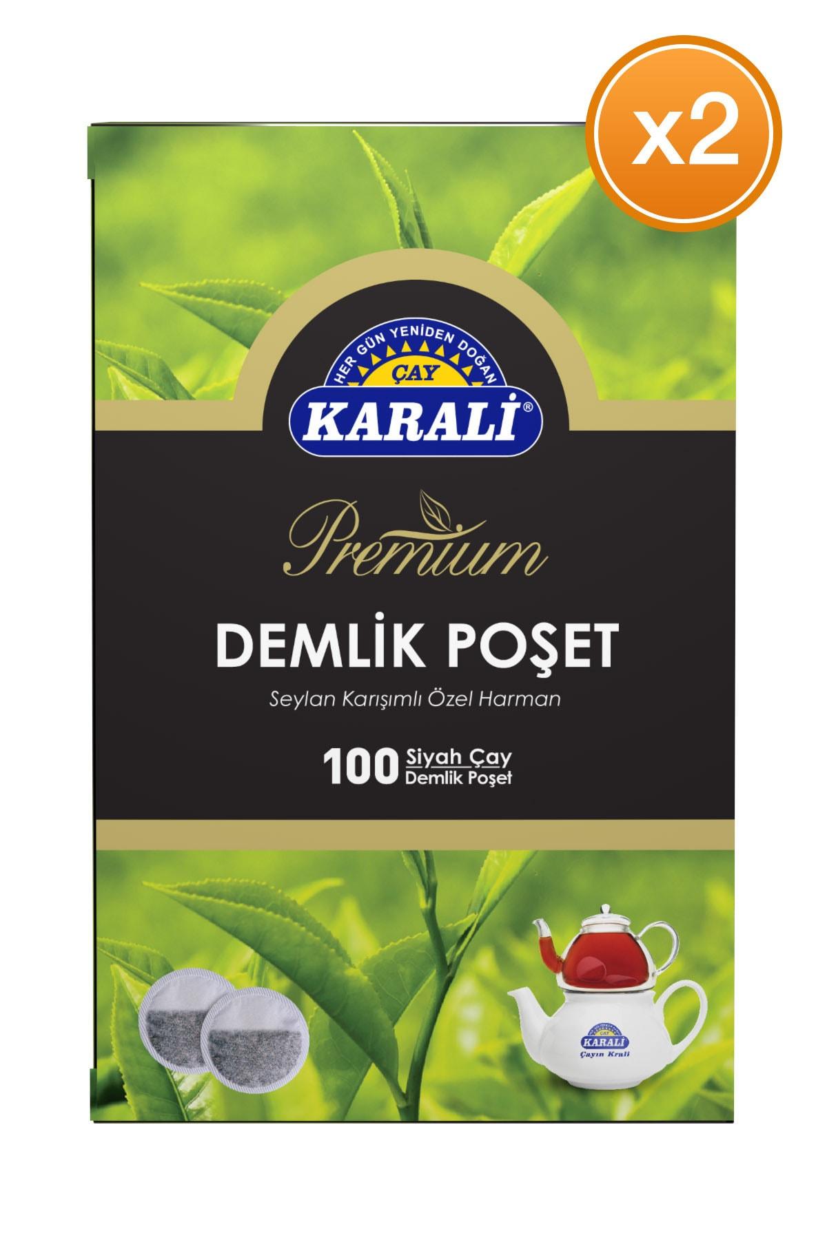 Karali Çay Karali Premium Demlik Poşet Siyah Çay 100x3,2 gr X 2 Adet 2