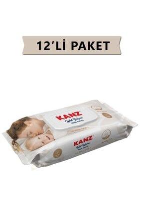 Kanz Islak Havlu Mendil Ultra Soft Yenidoğan 72 Li X12 Paket