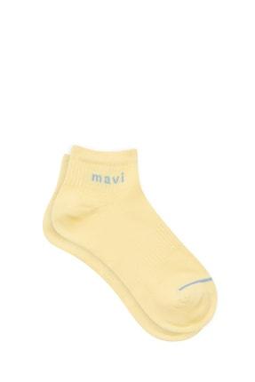 Mavi Kadın Logo Baskılı Sarı Soket Çorap 198120-33200