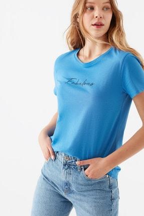 Mavi Kadın Fabulous  Baskılı Mavi Tişört 1600533-33537