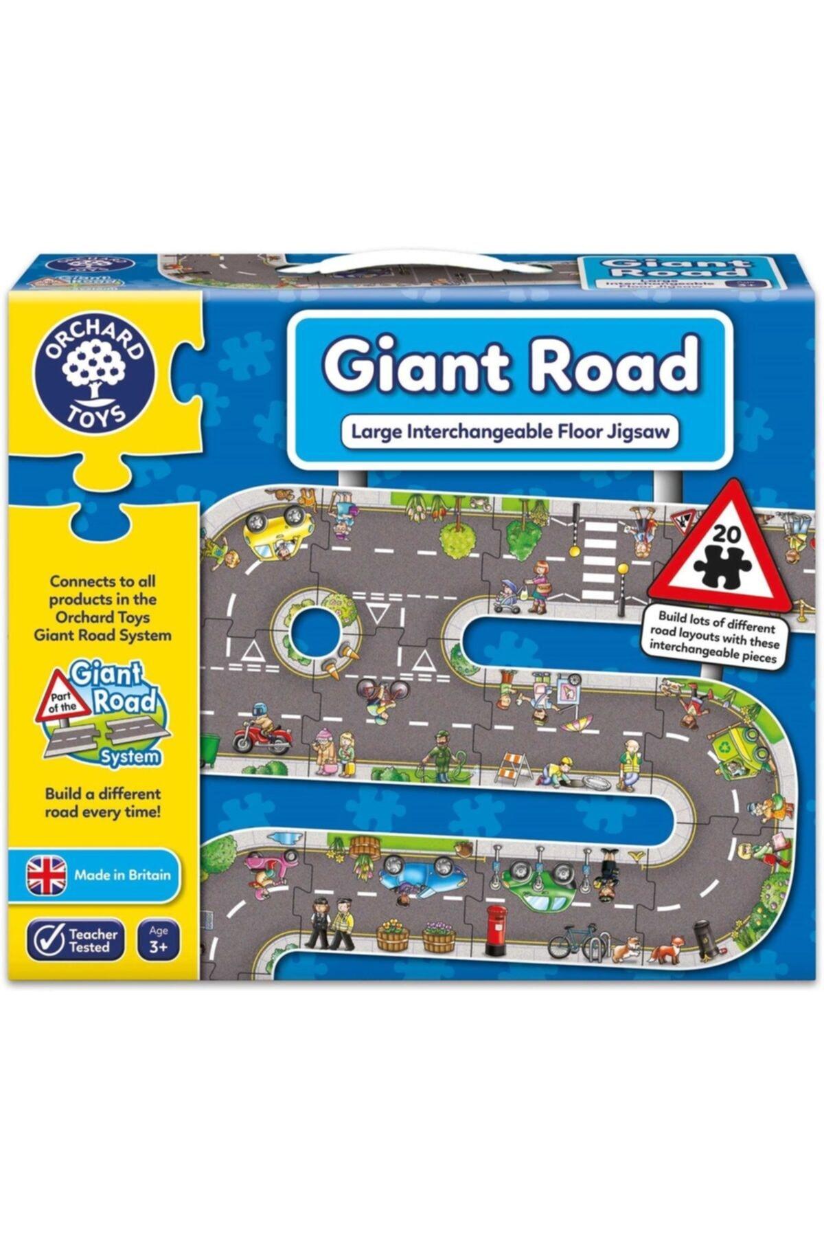ORCHARD Puzzle Giant Road Jigsaw 3 Yaş+ 1