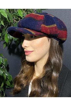 Bay Şapkacı Kadın Lacivert Kasket Şapka
