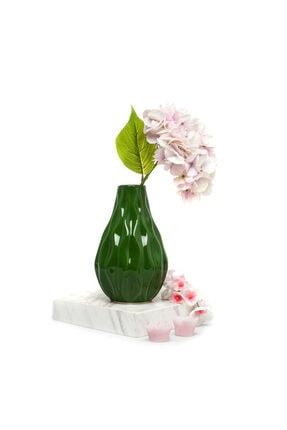 ANGDESİGN Magnolia Vazo Eskitme Yeşil