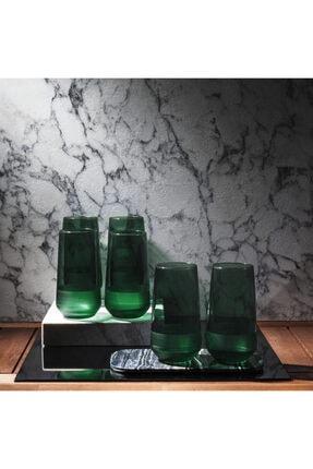 Rakle Matte 6'lı Bardak - Yeşil / 470 ml