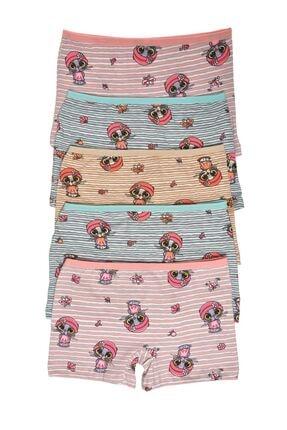 Nicoletta Mıxcolor Kız Çocuk Boxer 5'li Paket