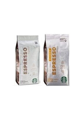 Starbucks Blonde Espresso ve Dark Roast Çekirdek Kahve 250 gr  2 Adet