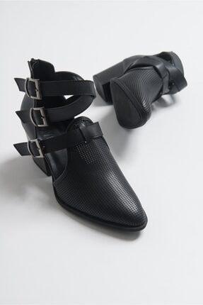 LuviShoes 2030 Sıyah Kadın Yazlık Bot