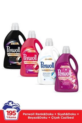 Perwoll H. Siyah 3l + Renkli 3l + Büyüleyici Çiçekler 2,7l + Beyaz 3l 4 Lü Set