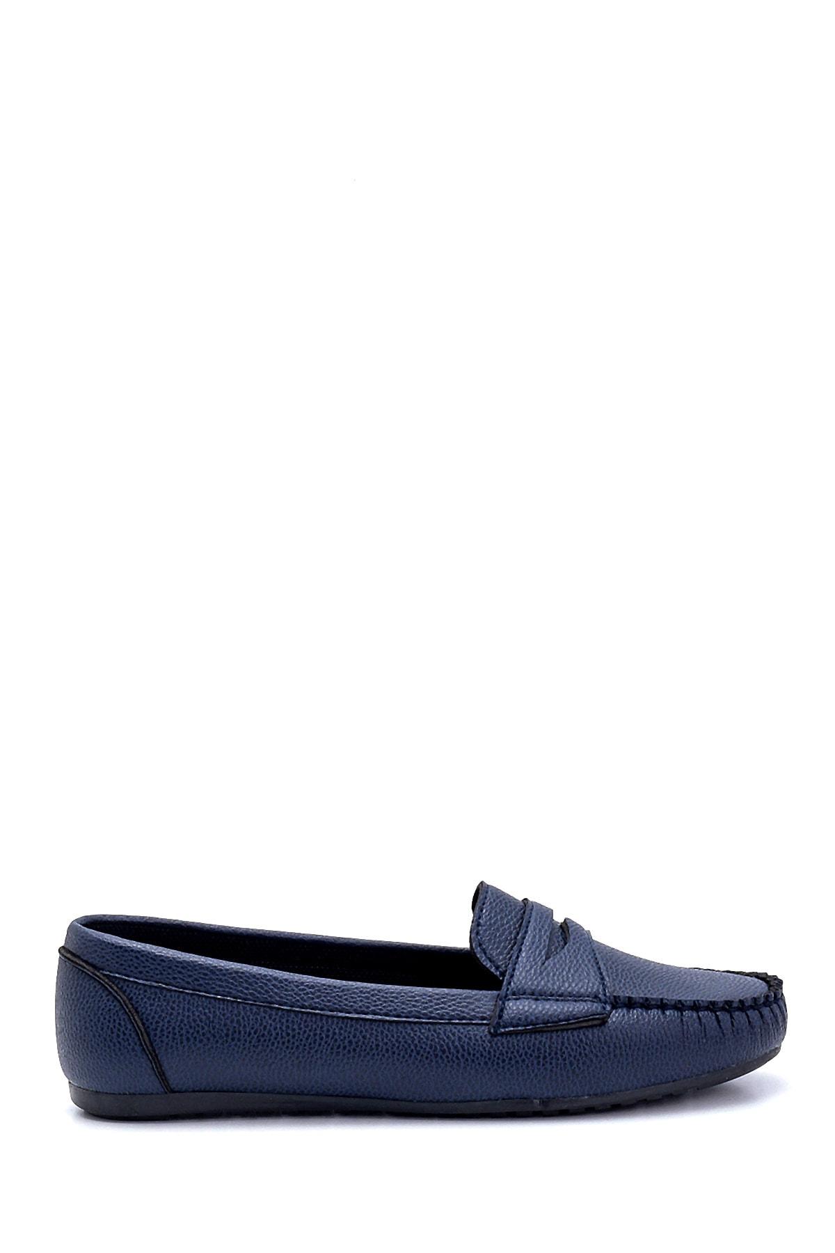 Derimod Kadın Lacivert Loafer Ayakkabı 1