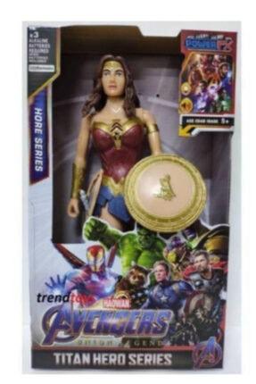 AVENGERS Yenilmez Kadın Karakter Wonder Woman Oyuncak Karakter Sesli 30 cm