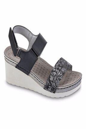 Jump Kadın Siyah Comfort Sandalet
