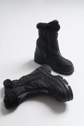 LuviShoes 2653 Siyah Kadın Bot