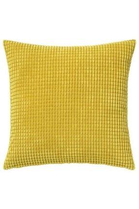 IKEA Minder Kılıfı Meridyendukkan Sarı 50*50 Fermuarlı Adet Kılıf Yastık Kılıfı , Kırlent Kılıfı