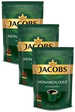 Jacobs Monarch Gold Kahve 600 Gr Eko Paket(200 Gr X 3 Adet)