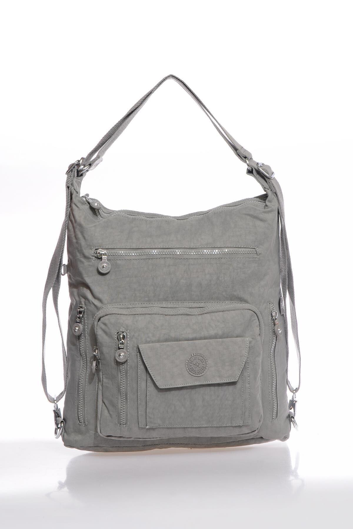 SMART BAGS Smbky1205-0078 Gri Kadın Omuz Ve Sırt Çantası 1