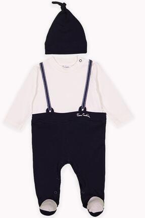 Pierre Cardin Baby Pierre Cardin Bebek İnterlok Eksraforlu Şapkalı Tulum Lacivert