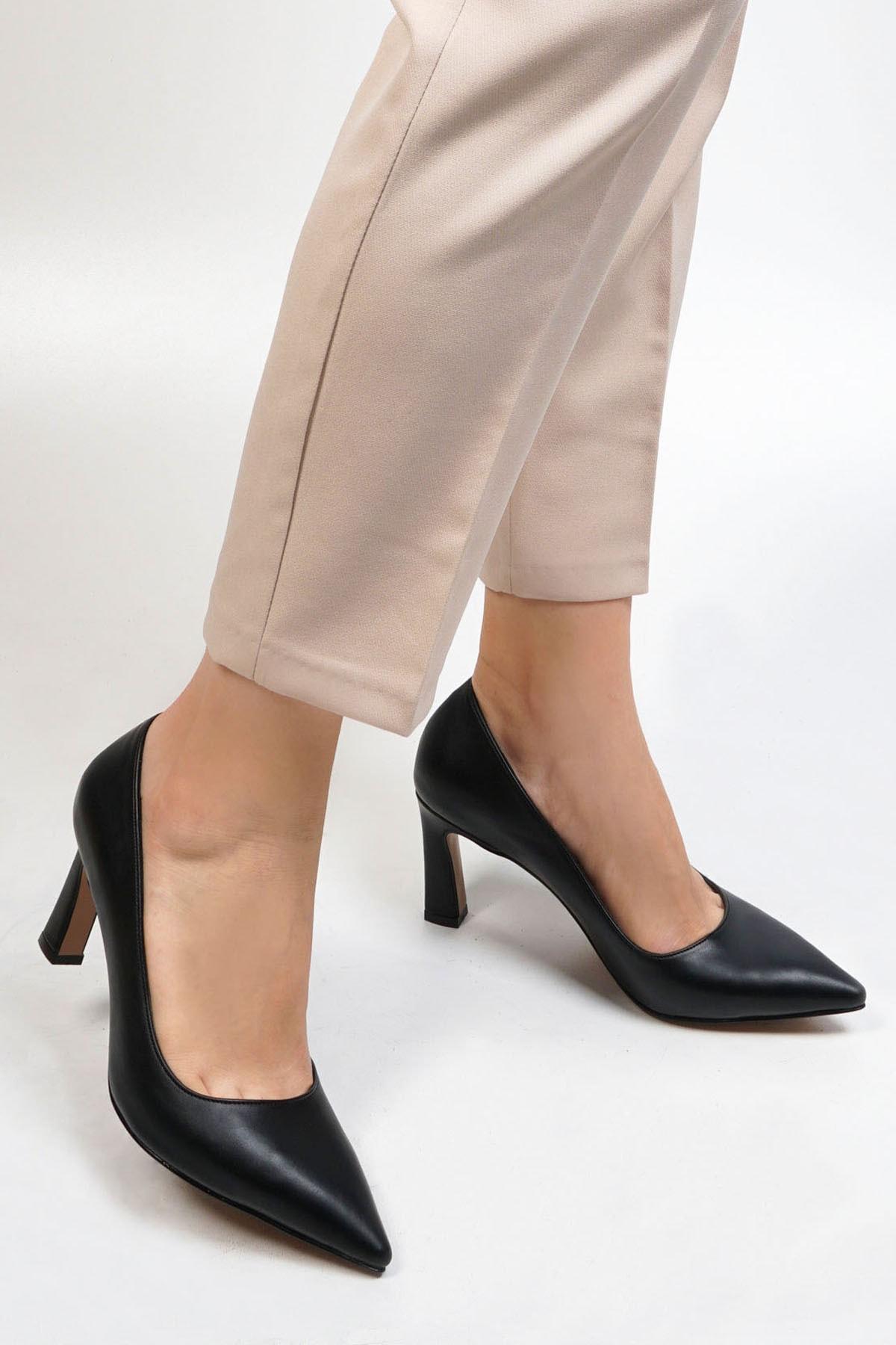 Marjin Akuna Kadın Stiletto Topuklu Ayakkabısiyah 2