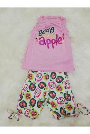 Wonder Kıds Kız Çocuk Bermuda Askılı Yazlık Pijama Takımı