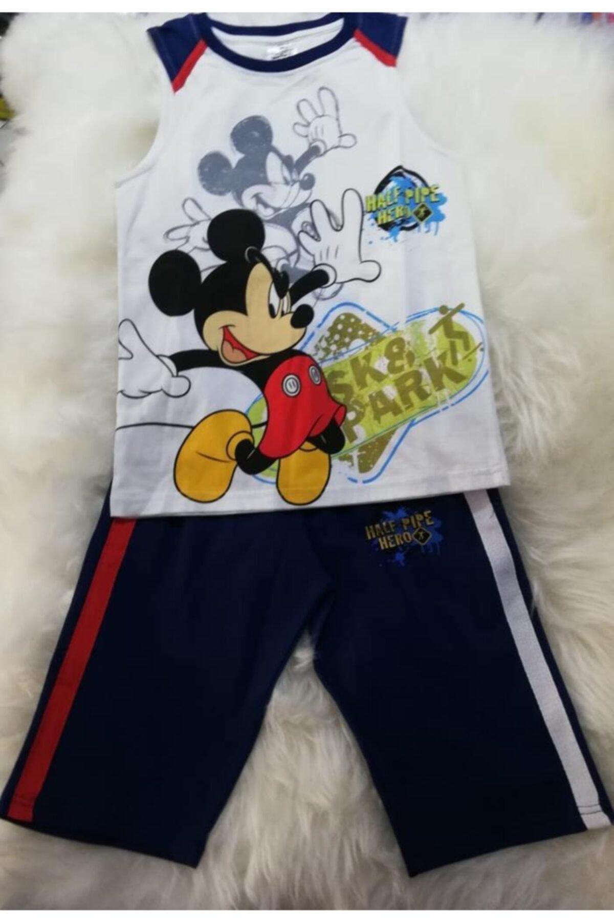 Disney Mickey Mouse Mıckey Mause Disney Lisanslı Orjinal Erkek Çocuk Yazlık Pijama Takımı 1