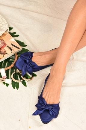 Fox Shoes Kadın Lacivert Kumaş Babet H726809004