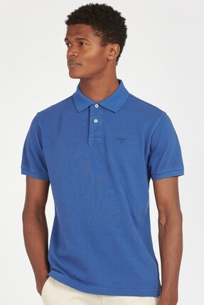 Barbour Erkek  Washed Sports Polo Yaka Bl97 Marine Blue