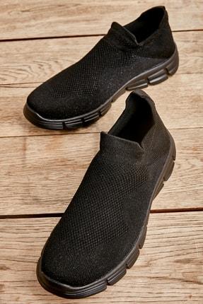 Bambi Siyah Simli Kadın Sneaker K01816153682