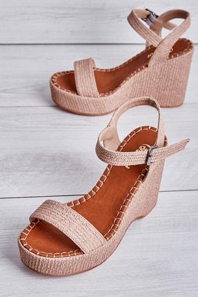 Bambi Vizon Kadın Dolgu Topuklu Ayakkabı K05688900310