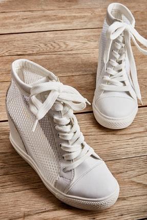 Bambi Beyaz Kadın Casual Ayakkabı K01503520022