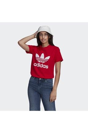 adidas Kadın Kırmızı Trefoil Tişört gn2902