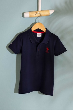 U.S. Polo Assn. Lacivert Erkek Çocuk T-Shirt Basic