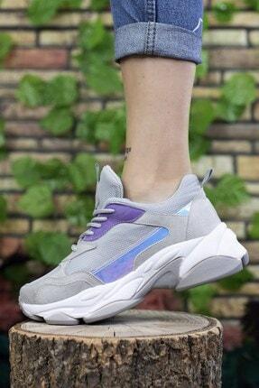Riccon Kadın Gri Sneaker 0012189
