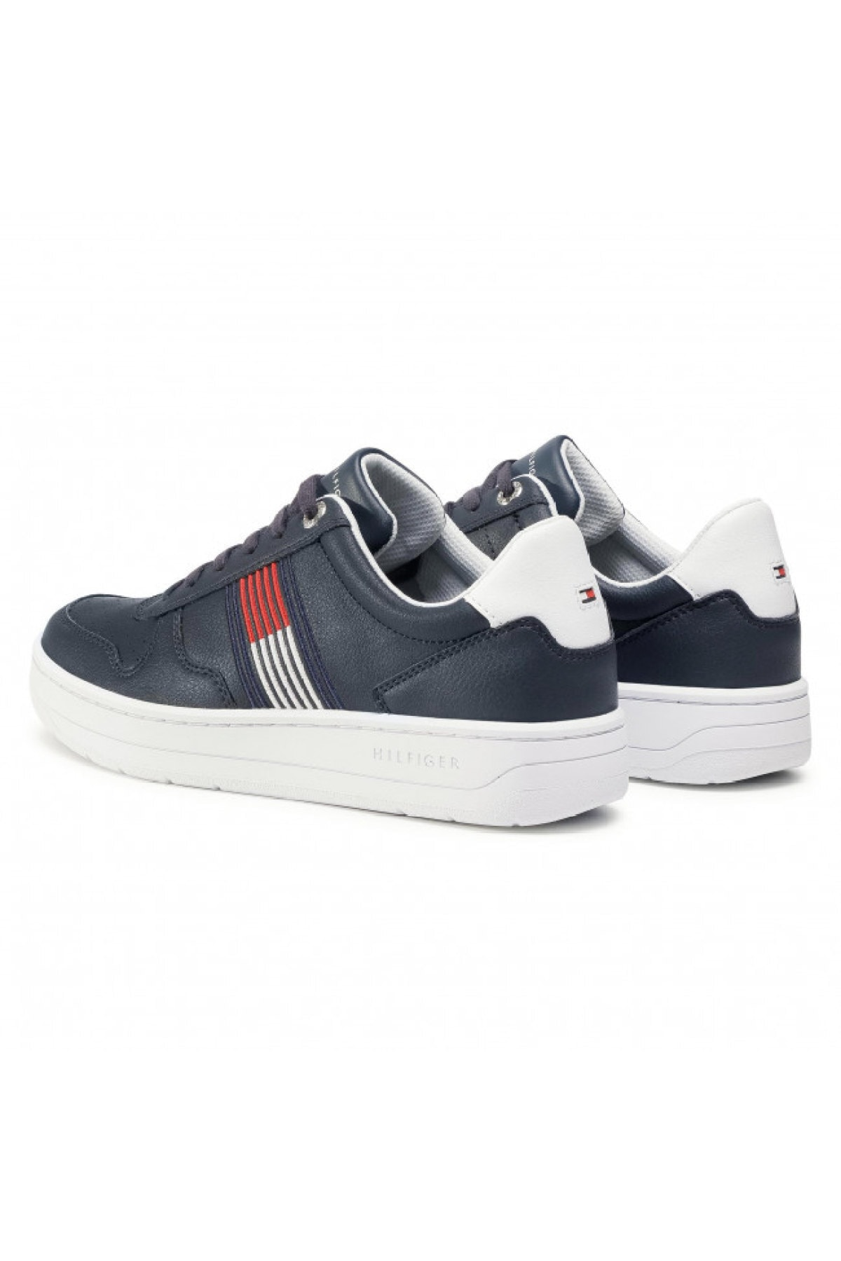 Tommy Hilfiger Erkek Mavi Sneaker Basket Low Cupsole Sneaker FM0FM02843 2