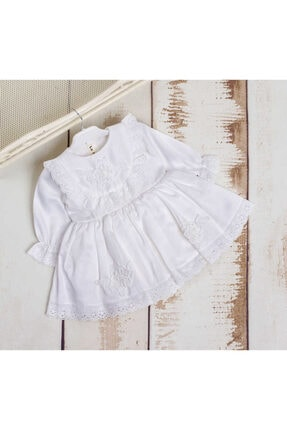 Le Mabelle Vintage Aplikeli Kız Çocuk Elbise - Alora