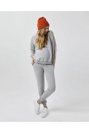 Style The Bump Kadın Gri Çizgili Eşofman Takımı