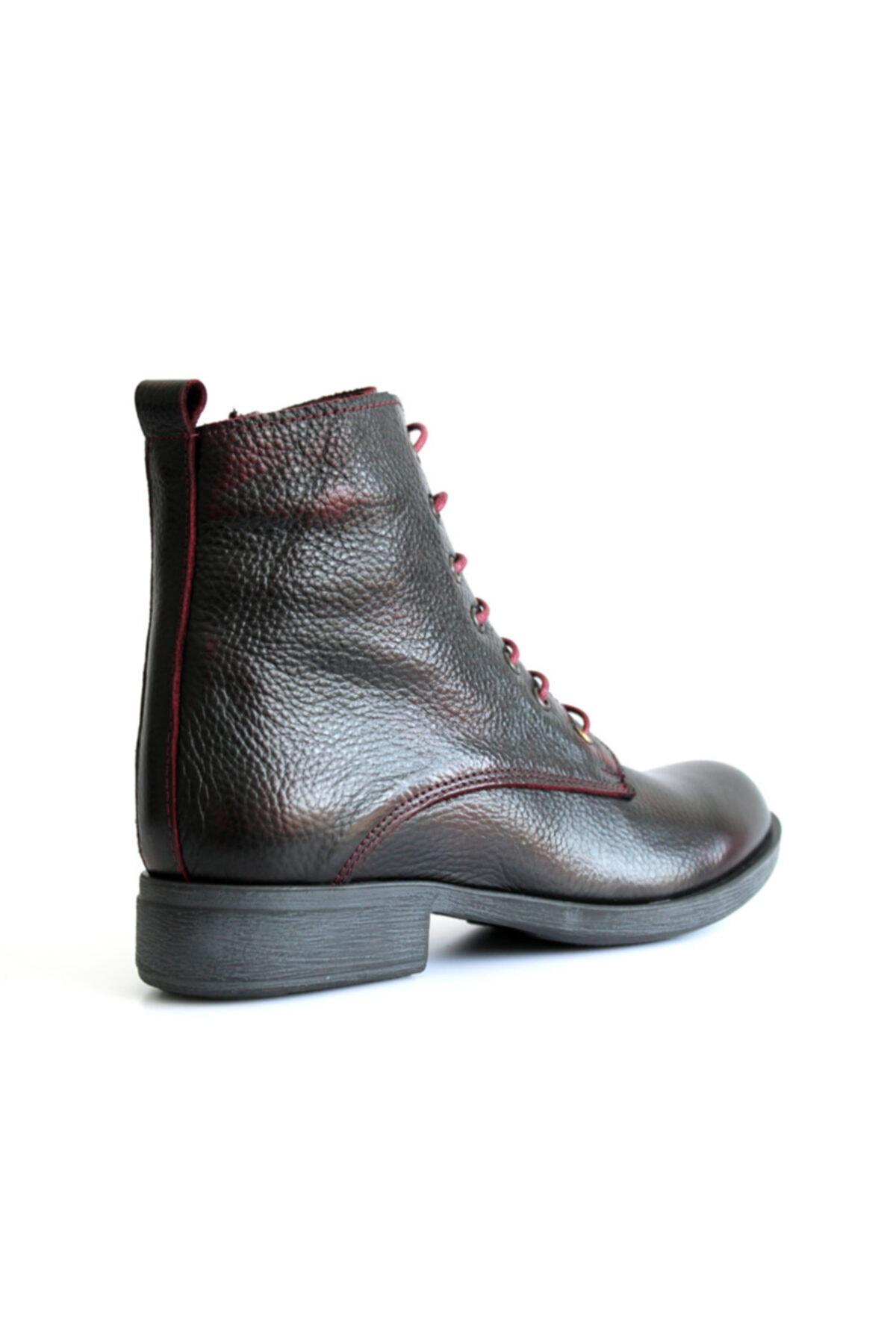 Beta Shoes Kadın Hakiki Deri Bot Kahve 2