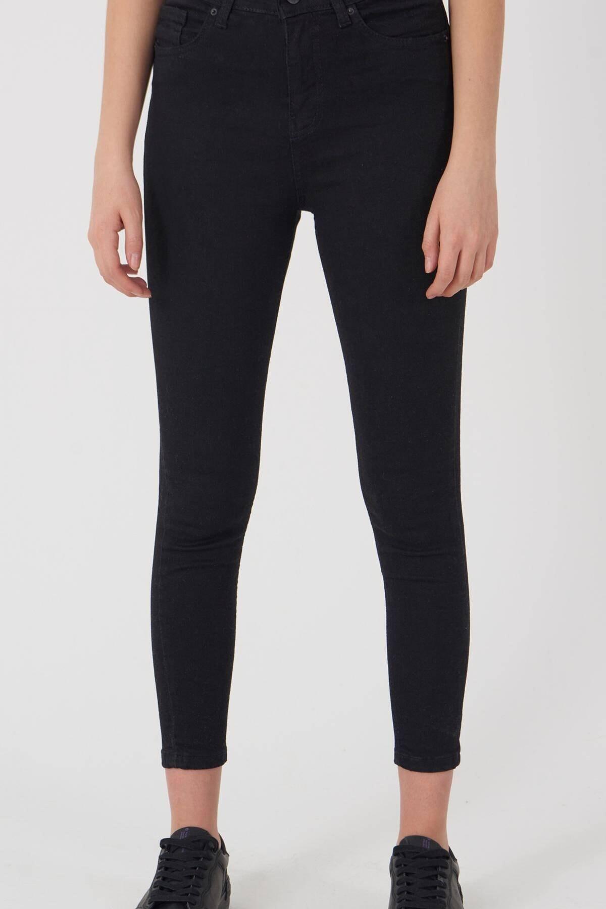 Addax Kadın Siyah Yüksek Bel Pantolon Pn8560 - Pnspnt Adx-0000014371 2