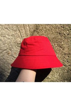 Köstebek Kırmızı Yazlık Bucket Şapka